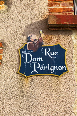 FRA8950AW Rue Dom Perignon, Hautvilliers, Marne valley, Champagne Ardenne, France