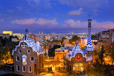 ES02353 Spain, Catalonia, Barcelona, Park Guell, listed as World Heritage by UNESCO