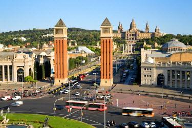 ES02354 Palace Nationale, Place Espanya, Barcelona, Catalunya, Spain - Time lapse