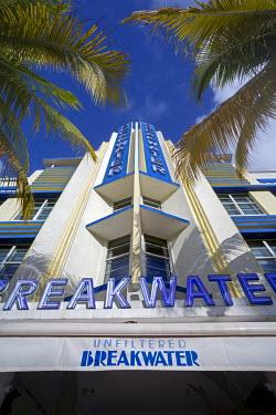 US11855 Art deco district, Ocean Drive, South Beach, Miami Beach, Miami, Florida, USA