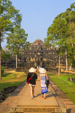 HMS1917254 Cambodia, Siem Reap Province, Angkor temple complex, site listed as World Heritage by UNESCO, Baphuon Temple, built by King Udayaditiavarman II around 1060