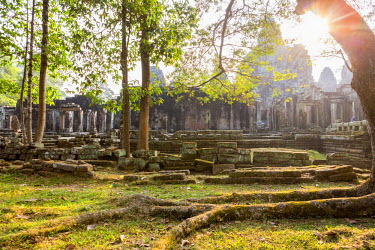 HMS1917260 Cambodia, Siem Reap Province, Angkor temple complex, site listed as World Heritage by UNESCO, Bayon Temple, 13th century