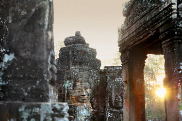 HMS2025409 Cambodia, Siem Reap Province, Angkor Temples complex, listed as World Heritage by UNESCO, Bayon temple�