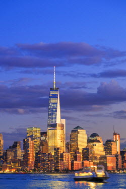 US61029 USA, New York, New York City, Lower Manhattan Skyline