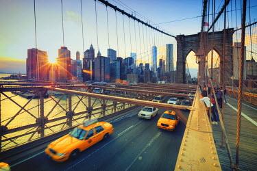 US61124 USA, New York, New York City, Brooklyn Bridge