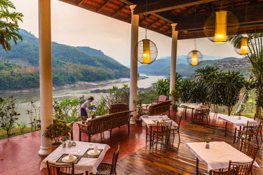 HMS1914566 Laos, Oudomxay province, Pakbeng, the banks of the Mekong river, the Pakbeng Lodge, 3 star charming hotel