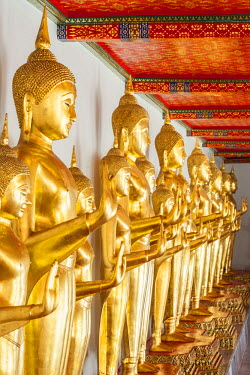 Thailand, Bangkok, Phra Nakhon, Temple of the Reclining Buddha Wat Po (Wat Phra Chettuphon) founded in the 16th century, Gallery 394 Buddhas