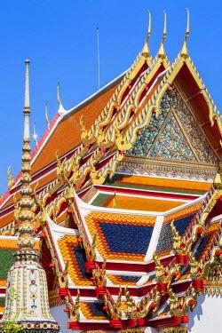 HMS1812207 Thailand, Bangkok, Phra Nakhon, Temple of the Reclining Buddha Wat Po (Wat Phra Chettuphon) founded in the 16th century