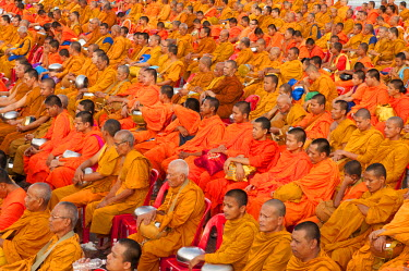 Thailand, Koh Samui, Meeting of monks for the new year in koh Samui
