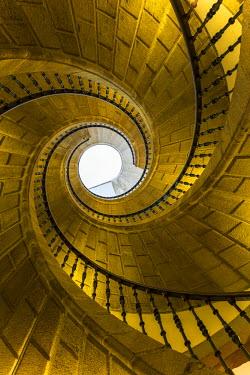 ES03200 Triple spiral staircase of floating stairs. Convent of Santo Domingo de Bonaval. Santiago de Compostela. Galicia. Spain