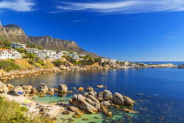 SA01064 Beach near Camps Bay in Cape Town, Western Cape, South Africa