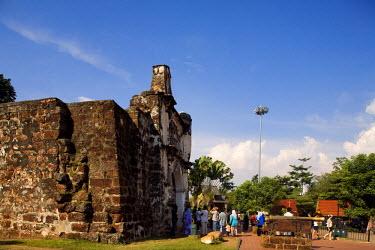HMS0202122 Malaysia, Malacca state, Malacca, historical center, A-Famosa fortress gate