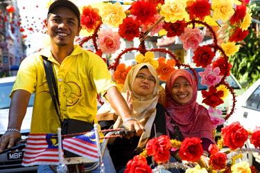 HMS0202148 Malaysia, Malacca state, Malacca, historical center, trishaws