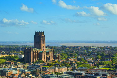 UK446RF England, Merseyside, Liverpool, View of Liverpool Cathedral built on St James Mount