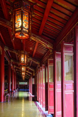 HMS2237407 Vietnam, Thua Thien Hue province, Hue, the Forbidden City or Purple City in the heart of the Imperial City, listed as World Heritage site by UNESCO, group of temples dedicated to emperor cult, the The...
