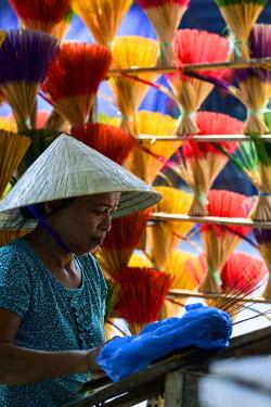 HMS2237417 Vietnam, Thua Thien Hue province, Hue, incense maker