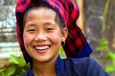 HMS0230438 Myanmar (Burma), Shan State, Inle Lake, Inn Dein Village, Shwe Inn Thein, the young The Phu of the Paho tribe