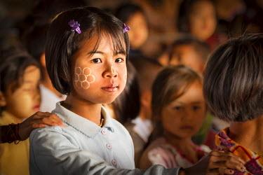 HMS2067623 Myanmar (Burma), Shan State, Inle Lake, Schoolgirl in Classroom