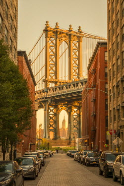 US61280 USA, New York, Brooklyn, Dumbo, Manhattan Bridge