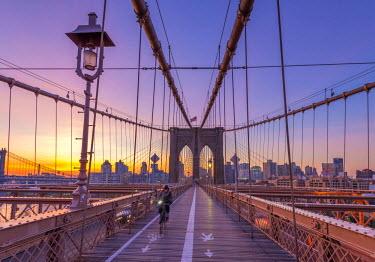 US61297 USA, New York, Brooklyn Bridge