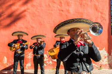 MEX1668AW Traditional mexican Mariachi group in Merida, Yucatan, Mexico (MR)