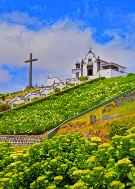 POR8601AW Portugal, Azores, Sao Miguel, Vila Franca do Campo, The Little Chapel of Nossa Senhora da Paz.