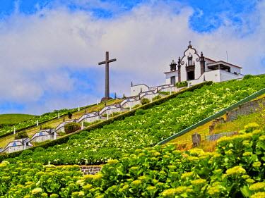 POR8602AW Portugal, Azores, Sao Miguel, Vila Franca do Campo, The Little Chapel of Nossa Senhora da Paz.