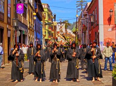 SPA6725AW Spain, Canary Islands, Tenerife, San Cristobal de la Laguna, Traditional Easter Holy Week Procession.