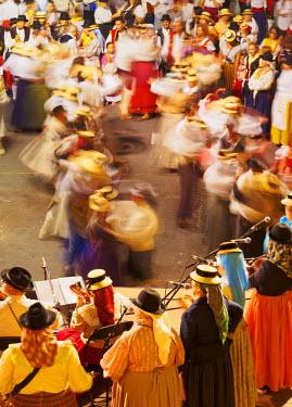 SPA6749AW Spain, Canary Islands, Tenerife, Santa Cruz de Tenerife, Traditional Canarian Party Baile de Magos.