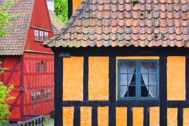 DK02115 Denmark, Jutland, Aarhus, Den Gamle By, reconstructed Old Town, half-timbered buildings