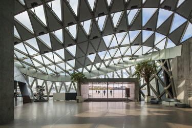 DK02157 Denmark, Jutland, Aalborg, Musikhuset, performing arts center, interior