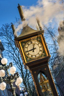 CAN2943AW Gastown steam clock, Vancouver, British Columbia, Canada