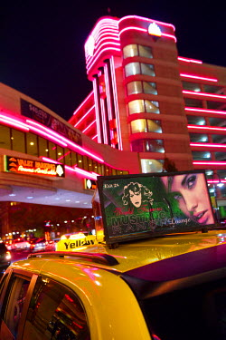 USA10741AW USA, Nevada, Reno,cab at night