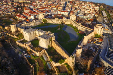 AS37AKA2086 Aerial view of Yedikule Fortress, Istanbul