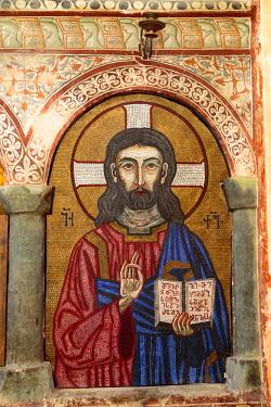 AS08ALA0123 Georgia, Kutaisi. Religious artwork inside the Gelati Monastery.