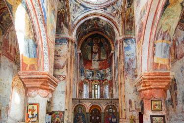 AS08ALA0126 Georgia, Kutaisi. Religious artwork inside the Gelati Monastery.