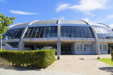 AS08ALA0191 Georgia, Batumi. Entrance to the Batumi dolphinarium.