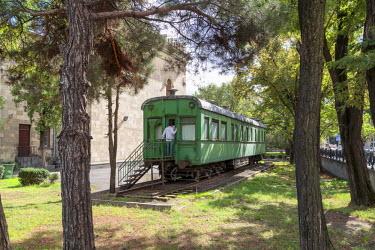 AS08ALA0232 Georgia, Gori. Stalin's personal train carriage at the Joseph Stalin Museum.