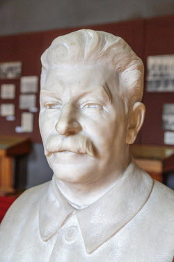 AS08ALA0240 Georgia, Gori. Bust of Stalin in the Joseph Stalin Museum.