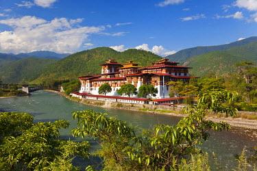 AS04PAD0014 Punakha Dzong or monastery, Punakha, Bhutan