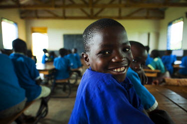 AF25AAS0134 Malawi, Lilongwe, Chambwe Primary School, Pupils in classroom learning comfortably on desks. Through UNICEF'S Kids-In-Need of Desks (KIND) project UNICEF has managed to provide 420 desks to Chambwe Pr...