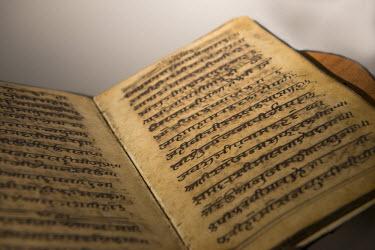 AF28CMI0016 Mauritius, Port Louis, Caudan. Historic Aapravasi Ghat museum. Ramayana, holy scriptures of one of the great mythological Hindu epics. UNESCO.