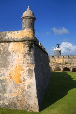 CA27BJN0035 A Garita, sentry box, along the walls of Fortress El Morro, Old Town, San Juan, Puerto Rico