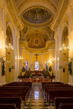 CA27BJN0043 Interior of Cathedral of San Juan Bautista, San Juan, Puerto Rico