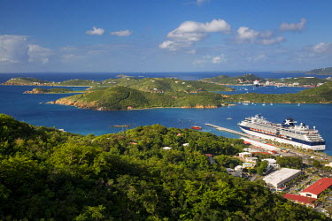 CA37BJN0016 View of Charlotte Amalie Harbor from Paradise Point, St Thomas, US Virgin Islands