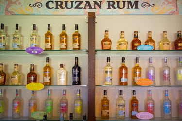 CA37BJN0037 Shelves full of Cruzan Rum at the Cruzan Distillery, founded 1760, Christiansted, St. Croix, US Virgin Islands, West Indies