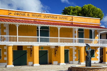 CA37BJN0044 Oscar E. Henry Customs House along the waterfront, Frederiksted, St. Croix, US Virgin Islands