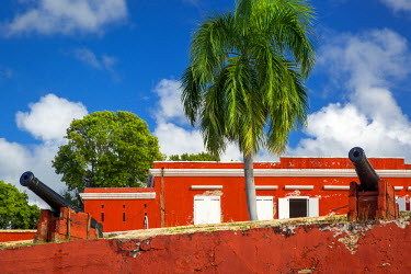 CA37BJN0046 Fort Frederik along the waterfront in Frederiksted, St. Croix, US Virgin Islands