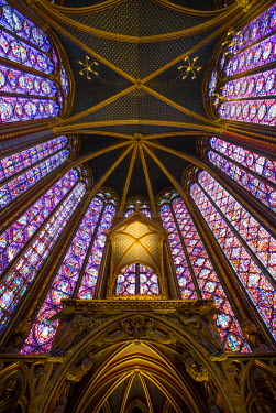 Stained glass windows of Sainte Chappelle, Paris, France