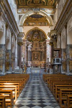 EU16BJN0469 Cattedrale di Sant'Andrea or Duomo di Amalfi interior, Amalfi, Campania, Italy